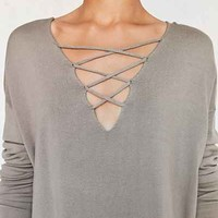 Silence + Noise Kendall Crisscross Pullover Sweater - Urban Outfitters