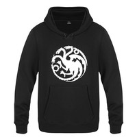 2017 Men Women Spring Autumn Game of Thrones House Targaryen Pullover Clothing Casual Sweatshirts Hoodies Jacket Coat