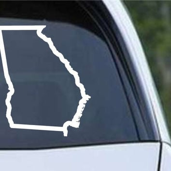 Georgia State Outline GA - USA America Die Cut Vinyl Decal Sticker