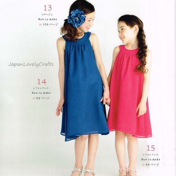 Romantic Girly Dress Patterns, Japanese Sewing Pattern Book for Girls Formal Party Clothing, Easy Sewing Tutorial, Cute Princess - B1602