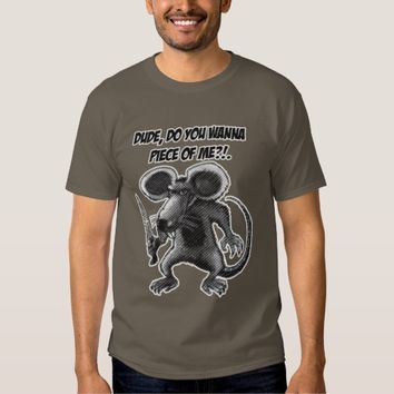 angry rat with knife T-Shirt