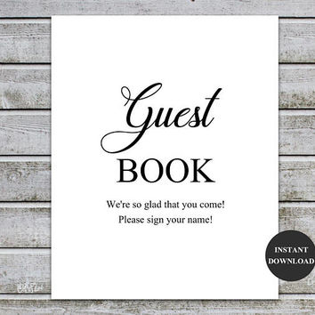 Sign Guest Book Sign Guest Book Printable Wedding Sign Baby Shower Signs Bridal Shower Signs Guest Book Idea Guest Book Alternative (v32-1