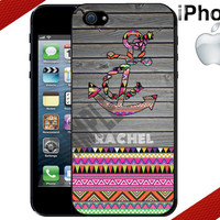 Aztec Anchor iPhone Case - Tribal - iPhone 4 Case or iPhone 5 Case - Personalized iPhone Case- Hard Plastic iPhone Case