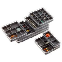 Grey Stacking Jewelry Tray System | The Container Store
