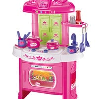World Tech Toys Glamor Girlz My Kitchen Playset with Light and Sound - Pink