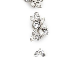 Oscar de la Renta Navette Ear Cuff with 2 Stud Earrings