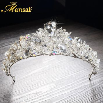 2017 New Luxurious Rhinestone Quinceanera Tiaras Princess Crown Headpiece Wedding Bridal Tiara Crown Handmade Diademas HG270