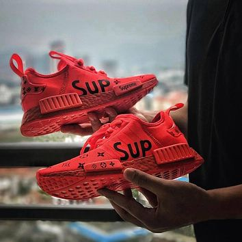 Best Online Sale LV x Supreme Sup x Adidas NMD R1 Red S31507 Boost Fashion Trending Sp