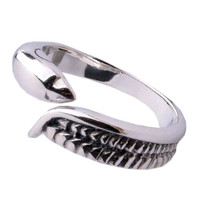 Cool Jewelry for Men's Dolphin Pinky Ring .925 Thai Silver