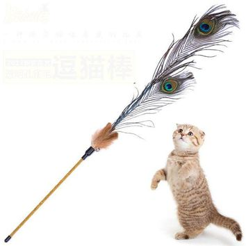 DCCKJN2 Kitten Cat Teaser Interactive Toy  Rod with Bell Feather Products For pet cat toys interactive