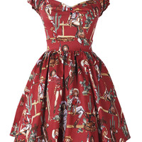 Red Vintage Pinup Girl Dress