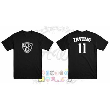 Kyrie Irving Brooklyn Nets Jersey Adult Unisex Tee T Shirt