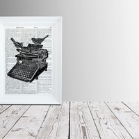 Typewriter poster European home decor Dictionary print TO184