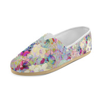 summery floral Women's Casual Shoes (Model 004) | ID: D748163