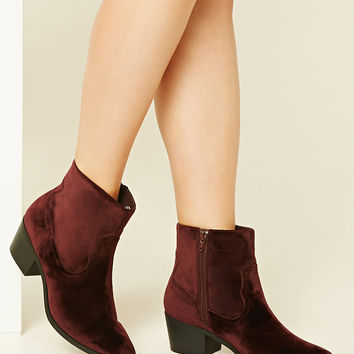 Velvet Ankle Booties