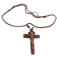 Vintage Engraved Cross Pendant String Necklace at Online Jewelry Store Gofavor