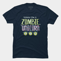 Zombie Unicorn T Shirt By Boriana Design By Humans