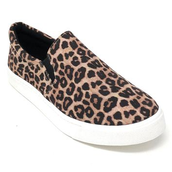Soda Reign Oatmeal Cheetah Fashion Sneakers