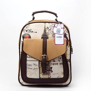 Students School Bags Women Backpacks High Quality pu leather Backpack