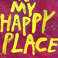 Word Art Print Happy Place by NayArts on Etsy
