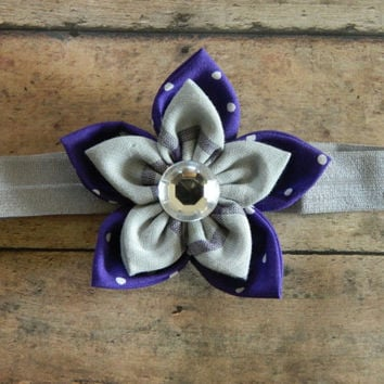 Baby Headband, Purple Headband, Flower Headband, Spring Headband, Easter Headband Toddler Girl Headband
