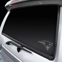 New England Patriots Chrome Window Graphic Decal