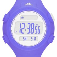 Women's adidas Performance 'Questra' Digital Watch, 42mm - Purple/ White