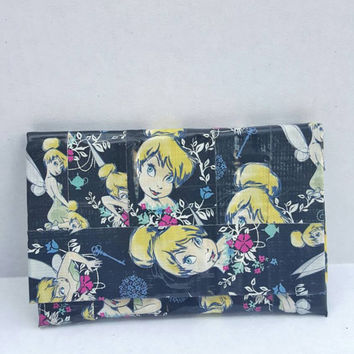 Tinkerbell Duct Tape Wallet - Coin Purse - Pouch - Card holder