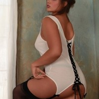 Plus Size Lingerie | Plus Size Garter Tank With Lace Up Back | Hips & Curves