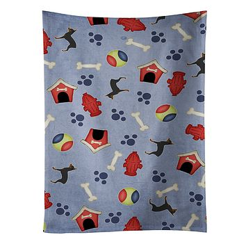 Toy Fox Terrier Dog House Collection Kitchen Towel BB3887KTWL