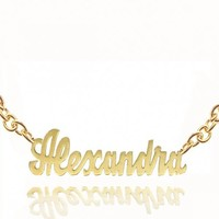 Personalized Name Necklace (Choose Your Name) w/ 24 Gold Overlay