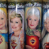 "4 Golden Girls Candle Set -  Dorothy, Sophia, Rose and Blanche  - 8""  80's TV Tribute Devotional Candle  - Heavenly geekery"