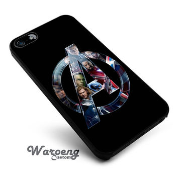 Avengers logo iPhone 4s iphone 5 iphone 5s iphone 6 case, Samsung s3 samsung s4 samsung s5 note 3 note 4 case, iPod 4 5 Case