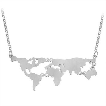 Best Seller Globe World Map Necklace
