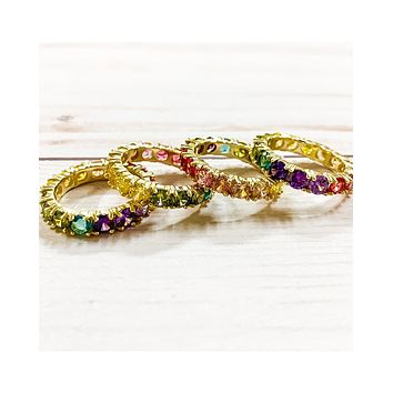'Colors of the Rainbow' Ring