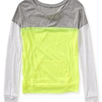 Long Sleeve Colorblock Yoga Top