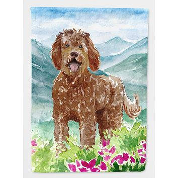Mountain Flowers Labradoodle Flag Canvas House Size CK2532CHF