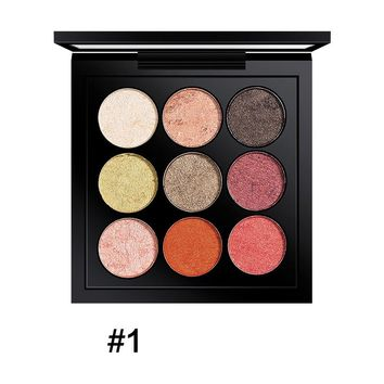 9 Colors Earth Tone Shimmer Matte Pigment Glitter Eyeshadow Palette Magnetic Design Metallic Shadow Palette Makeup