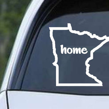 Minnesota Home State Outline MN - USA America Die Cut Vinyl Decal Sticker
