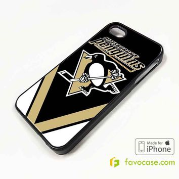 PITTSHBURGH PENGUINS Ice Hockey Team NHL iPhone 4/4S 5/5S/SE 5C 6/6S 7 8 Plus X Case Cover