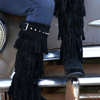 Fringe Tall Riding Boots