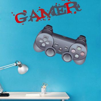 cik1500 Full Color Wall decal controller console Xbox 360 Game PS4 player bedroom teens