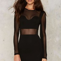 Nathalie Mesh Mini Dress