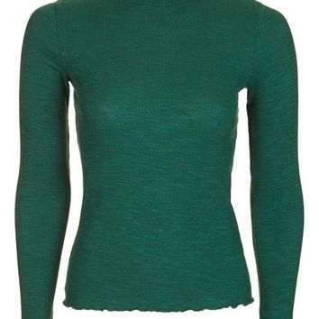 Longsleeve Frill Neck Top - New In This Week - New In