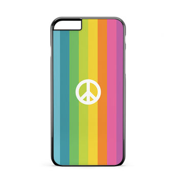 Peace Symbol Rainbow iPhone 6 Plus Case