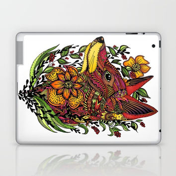 Red Fox Laptop & iPad Skin by MIKART