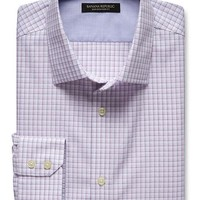 Banana Republic Mens Slim Fit Non Iron Dobby Micro Check Shirt