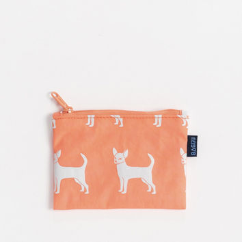 Small Flat Zip Pouch Chihuahua