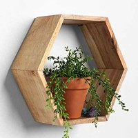 Honeycomb Wood Shelf