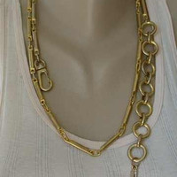 Older Jones New York 44-inch Bar Link Belt or Long Necklace